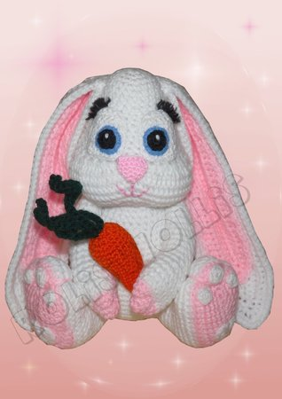 Crochet Pattern Ruby the bunny