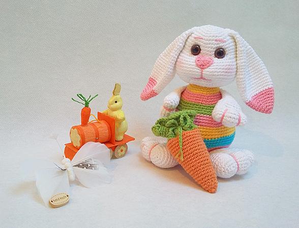 Hase häkeln ++ Karotten-Rucksack häkeln