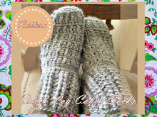 Quick Log Cabin Socks Crochet Pattern- Unisex Adult Sizes