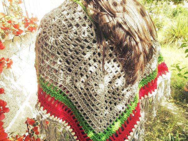 Bohemian Poncho Free Crochet Pattern : Bohemian Poncho Crochet Pattern