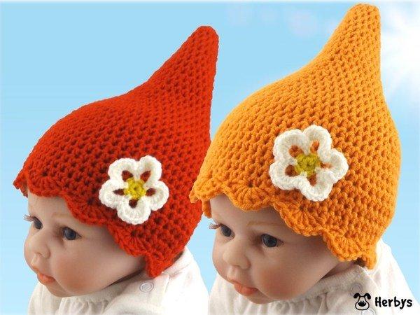 Babymütze häkeln // Zwergerl-Mütze + Blume