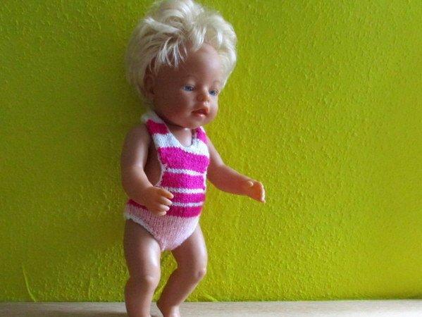 Strickanleitung- Badeanzug für Babypuppen und ähnliche Puppen ca. 43 cm
