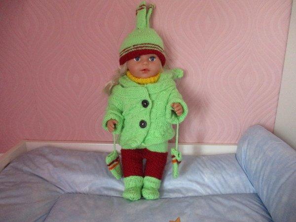 Strickanleitung Puppenkleidung Komplett Für Puppen Babypuppen Ca