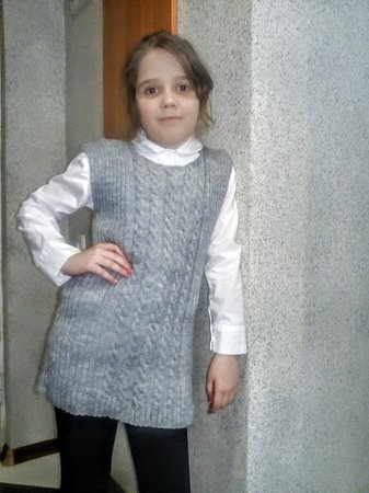 Knitted Vest For Girl Pattern Pdf