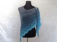 Crochet pattern shawl, wrap Dance with Dolphins