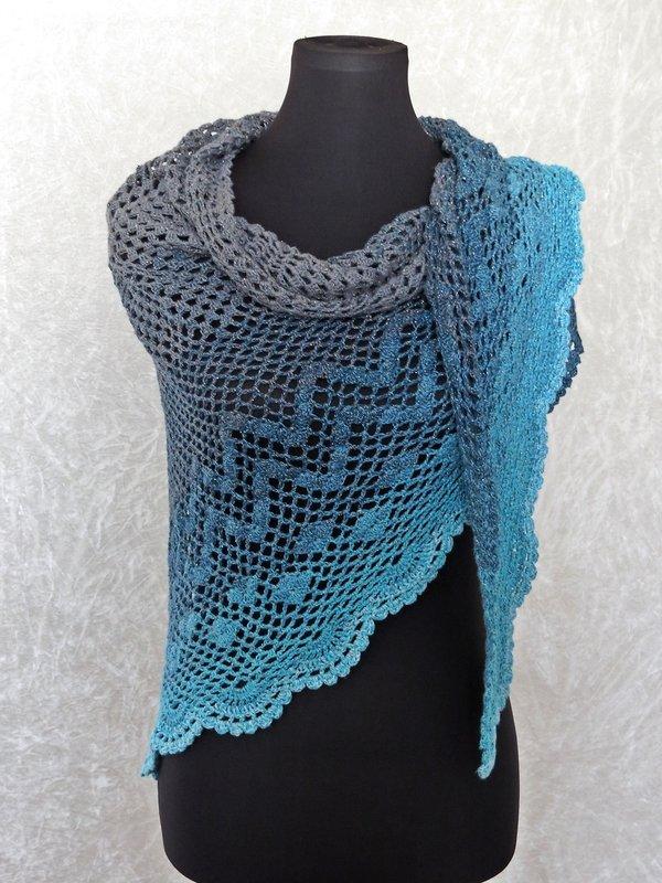 Free Crochet Pattern Ballet Wrap : Crochet pattern shawl, wrap Dance with Dolphins