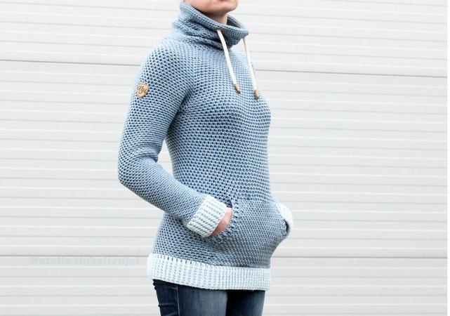 Pullover häkeln /// Jeans-Style /// einfach