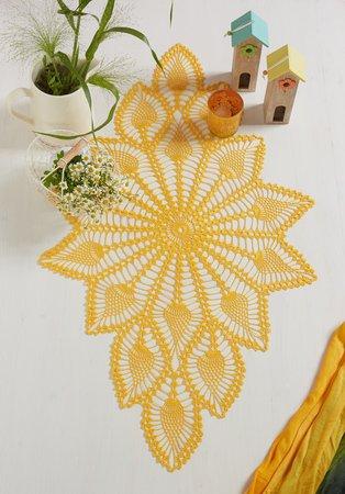 Tischläufer häkeln // dekorativer Blickfang