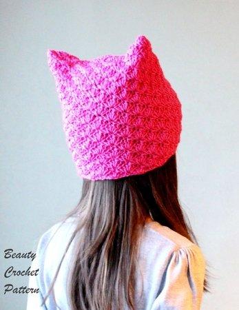 Cat Ears Hat Pattern Pussy Hat Pattern Kitten Ear Beanie