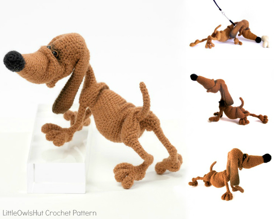 134 Crochet Pattern Dog Dachshund Genreh Amigurumi Pdf File By