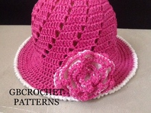 Mom and baby spring and Summer Crochet Baby to Adult Size Sun Hat, Mom and child Newborn to Adult Large Us and Uk pattern