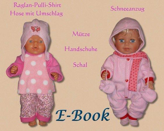 Winterkollektion 19 Modelle Schnittmuster für 43 cm Puppen