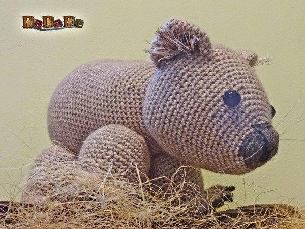 Wombat Womby das Knuddel-Tier aus Australien, Häkelanleitung von DaDaDe