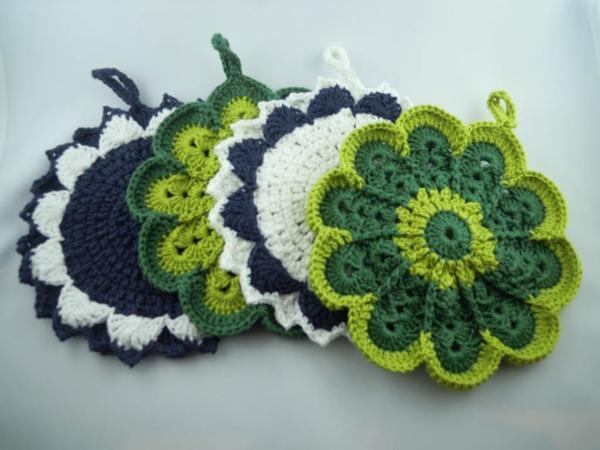 Häkel Anleitung Stern Blume Crochet Pattern Star Flower