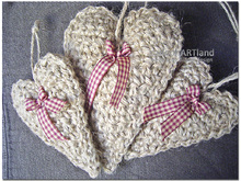 Farmhouse Burlap Heart - Cottage Decoration