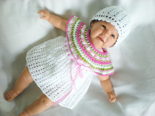 Babykleid Häkelanleitung In 4 Größen