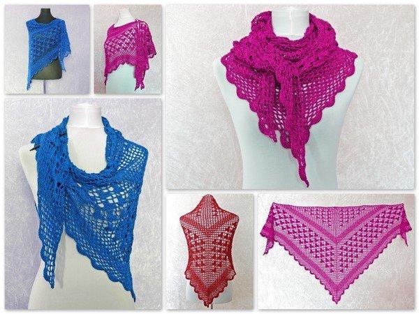 Dreieckstuch häkeln // Lacetuch + Muster