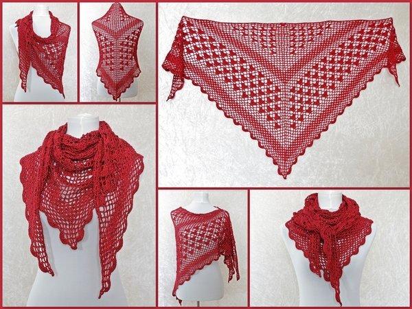 Dreieckstuch Häkeln Lacetuch Muster