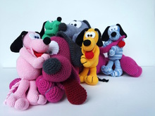 Crochet Pattern Cuddly Dog Othello