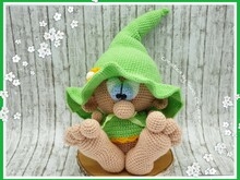 crochet pattern leprechaun, Kobold, english version