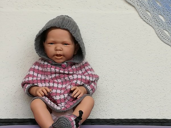 Baby Poncho *Pünktchen* niedlicher Poncho / Pulli einfach gehäkelt ...