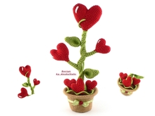 Heartflower in a pot -- Crochet Pattern by Haekelkeks