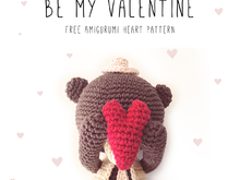 Valentine's day heart • Amigurumi Ornament • crochet pattern