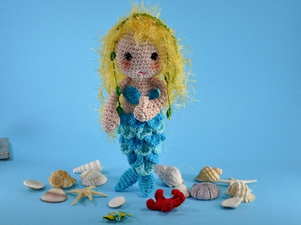 Kleine Meerjungfrau Amigurumi Häkelanleitung