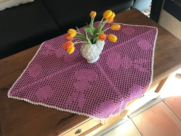 tischdecke h keln hasen und eier motiv. Black Bedroom Furniture Sets. Home Design Ideas