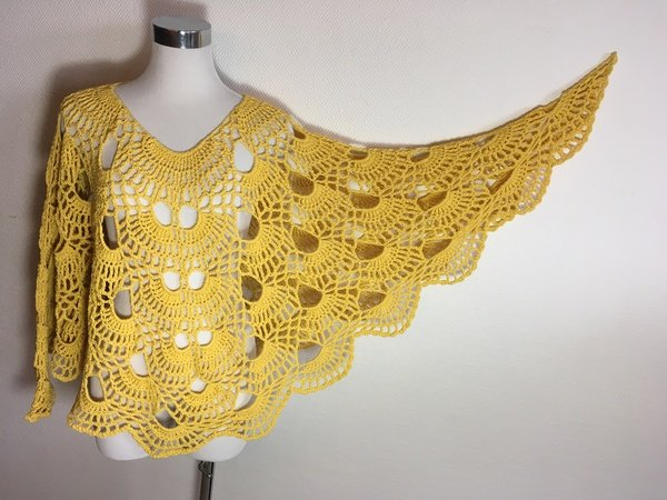 "Poncho ""Feel the Spring"" Häkeln aus Woolly Hugs Nobly"