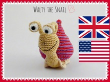 Walty the snail - crochet pattern for US/UK