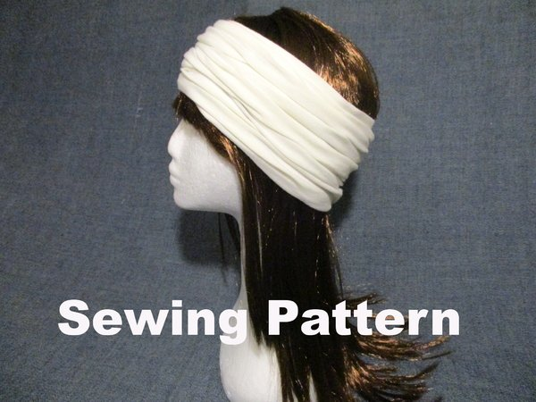 Jersey Headband Earwarmer Women Men Sewing Pattern