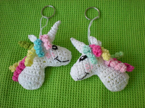 Keychain Unicorn Crochet Pattern