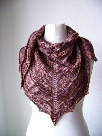 "Knitting pattern Shawl ""Coffee Toffee"""
