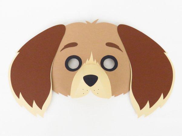 Tiermaske Hund Bastelanleitung Mit Vorlagen