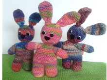 Tutorial Crochet Rabbit from Remains of Wool