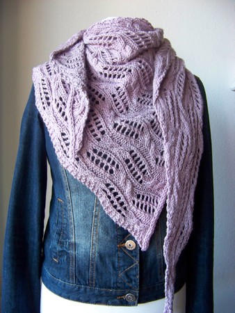 "Knitting pattern Shawl ""Hemera"""