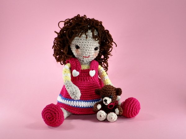 Puppe Peggy Sue Amigurumi Häkelanleitung