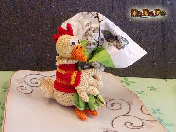 Der Lustige Serviettenhalter Huhn Gehäkelt Von Dadade