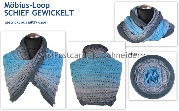 Loop Stricken Farbverlaufsgarn Verstricken