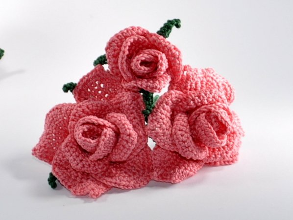 Rosen Rosenstrauß Häkelanleitung