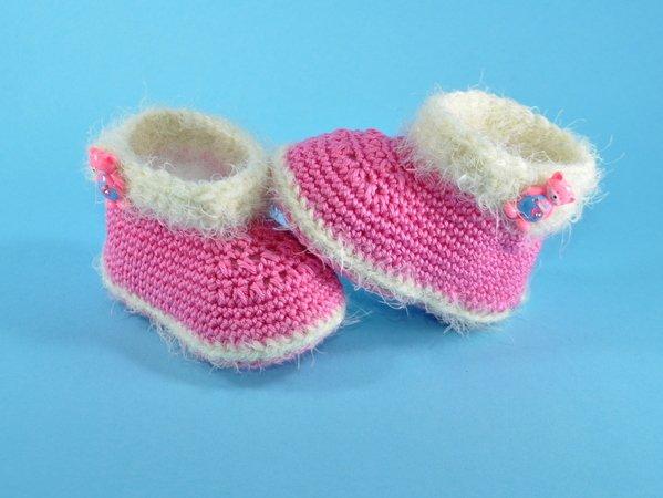 Babyschuhe Stiefel Häkelanleitung