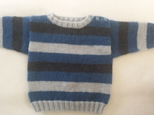 Anleitung Baby-Pulli f. Jungs Gr. 74-80