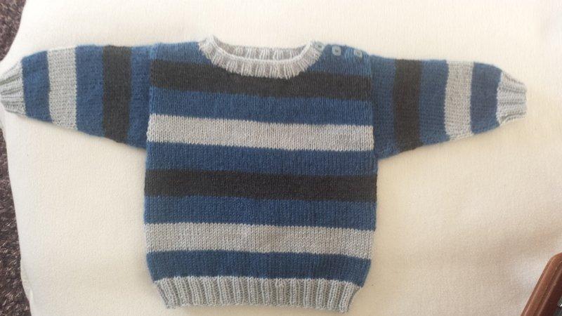 Baby-Pullover stricken // Jungs-Pullover