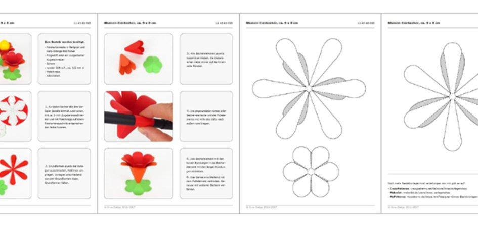 Blumen-Eierbecher – Bastelanleitung mit Vorlagen
