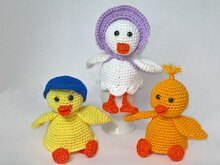 Crochet Pattern Egg Cozies duck family