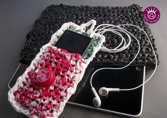3 Taschen Und Täschchen Aus Plastiktüten Gehäkelt Upcycling