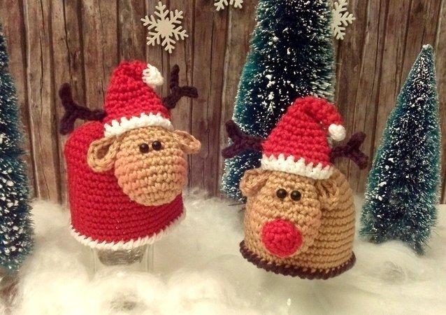 Eierwärmer Elch Und Schaf 2 In1 Weihnachtsedition