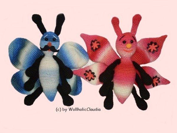 Schmetterling Häkeln Doppelpack 2 Motive