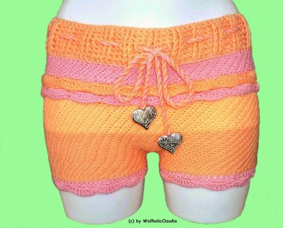 Hotpants Häkeln Sommer Shorts Kurze Hosen